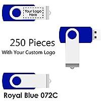 250個のスイベルUSB2.0フラッシュドライブ - カスタムロゴ付きのバルクプロモーション製品。 多くの色と形状記憶サイズ、数量があります 8GB VK-SW-250pack USB2.0 8GB RoyalBlue072c