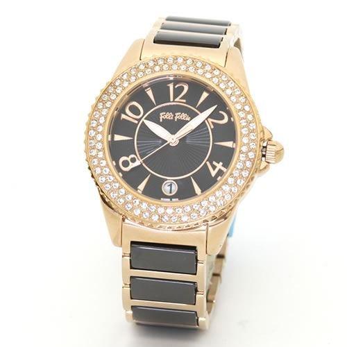 [フォリフォリ] Folli Follie 腕時計 フォリフォリ キラキラ・レディス・ラインストーンベゼル・ウオッチ WF6B057BDK [並行輸入品]