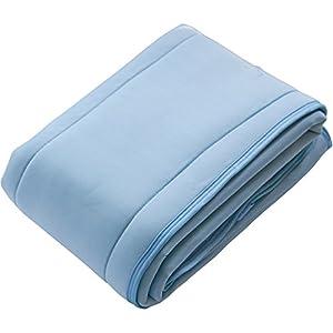 敷きパッド 持続冷感 Qmax0.42 ダブル冷却 抗菌防臭 放湿性 洗える リバーシブル 幅100×奥行200cm シングル ブルー