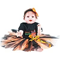 Dirance 22インチ 生きているような リボーンドール スカート付き スリーピングソフトシリコンパーツ ボディ リアルなクリスマスガールドール ビニール製 リアルな新生児の赤ちゃん人形の洋服 3歳以上の子供用ギフト 100ドル未満