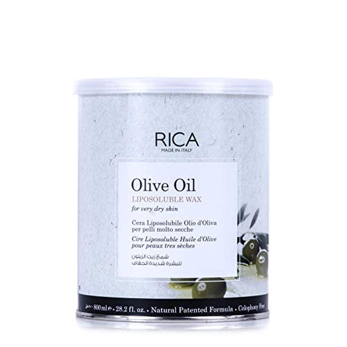 減少誰かメッシュRICA リポソルブルワックス OLO(オリーブオイル) 800mL ワックス脱毛 Olive Oil LIPOSOLUBLE WAX for very dry skin リカ