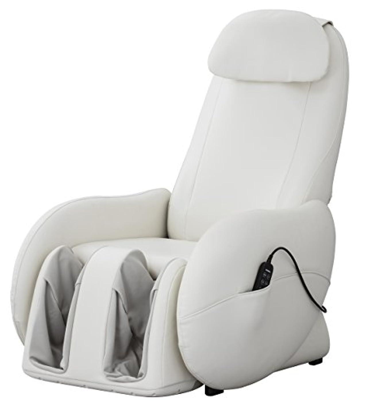 死傷者間成長スライヴ くつろぎ指定席Light マッサージチェア CHD-3700WH ホワイト 正規品 おしゃれ コンパクト 小型