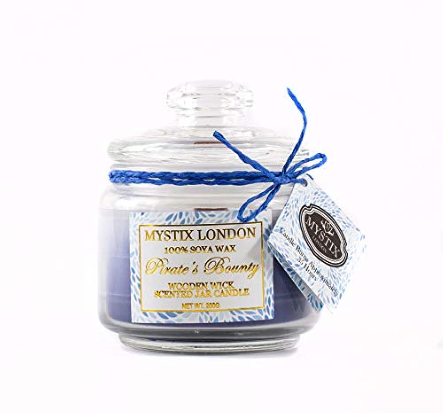 ティーンエイジャー日焼け無意識Mystix London | Pirate's Bounty Wooden Wick Scented Jar Candle 200g