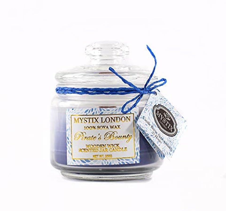 ナプキン救援無許可Mystix London | Pirate's Bounty Wooden Wick Scented Jar Candle 200g