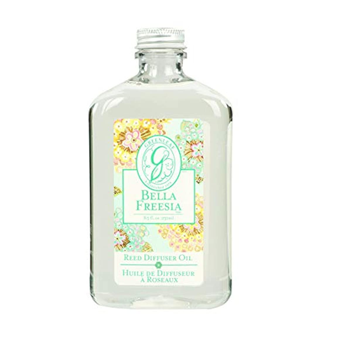 目の前のブロンズうるさいGREEN LEAF REED DIFFUSER OIL REFILL BELLA FREESIA