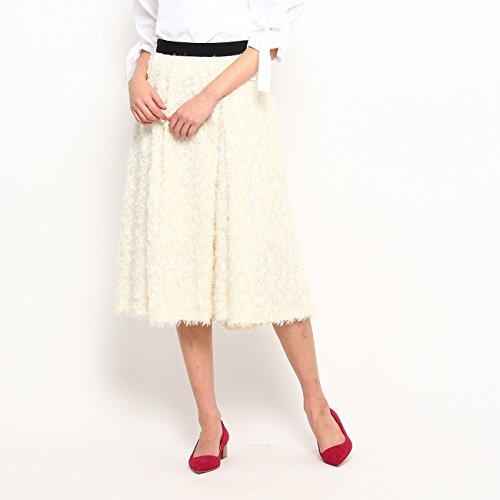 (ドレステリア) DRESSTERIOR レオパードジャガードシャギー フレアスカート 08573100 36(S) ホワイト(001)