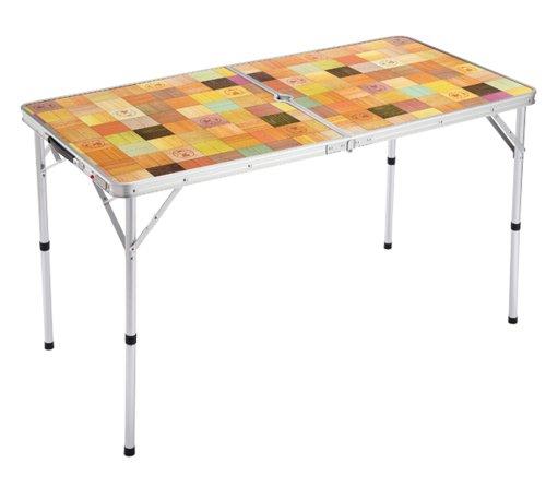 コールマン テーブル ナチュラルモザイク リビングテーブル/120