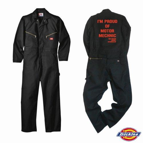【Dickies】ディッキーズ 長袖 つなぎ ツナギ カスタム カバーオール 「BLACK」「バイク・車・シンプル系」
