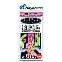 ハヤブサ 蓄光スキンサビキ(堤防小アジ五目)MIX HS402 10-3