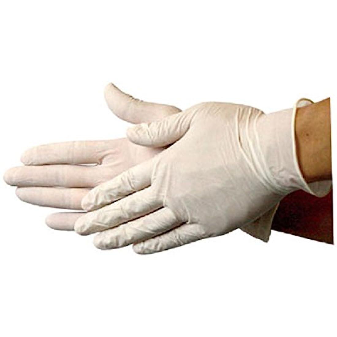 十分ではない硬い実際のラテックス手袋(S) 100枚 業務用手袋(EG?????750白)