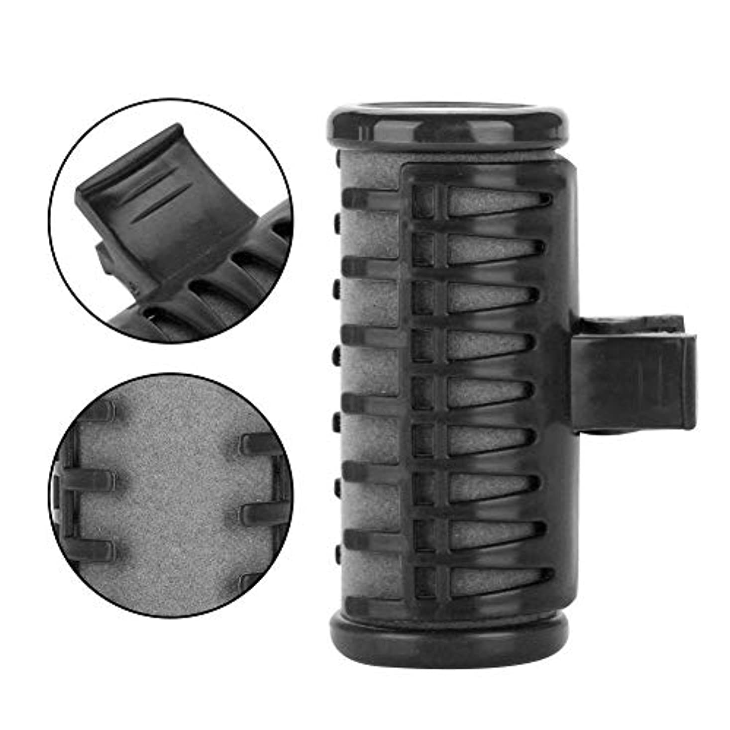 チェスをするスプーン行充電式ヘアカーラーローラー USB ワイヤレスホットヘアローラーシースルーバングスヘアスタイラーミニヘアカーラー(ブラック)