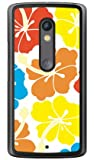 SECOND SKIN 北欧ハイビスカス カラフル (クリア) / for Moto X Play XT1562/MVNOスマホ(SIMフリー端末) MMRXPY-PCCL-201-Y432 MMRXPY-PCCL-201-Y432