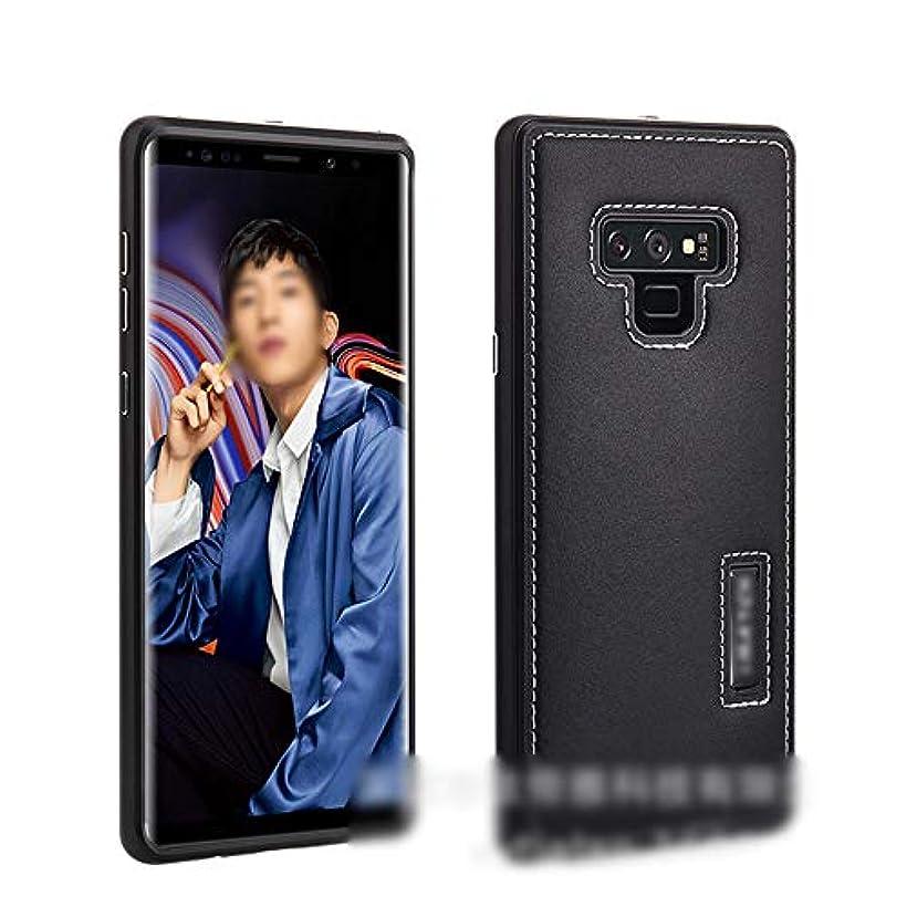無法者高揚した軍団Tonglilili 電話ケース、革ケースサムスンの新しい落下防止電話ケース、サムスンS9プラスの電話ケース、S9、Note9、S8プラス、Note8、S8 (Color : 黒, Edition : Note9)