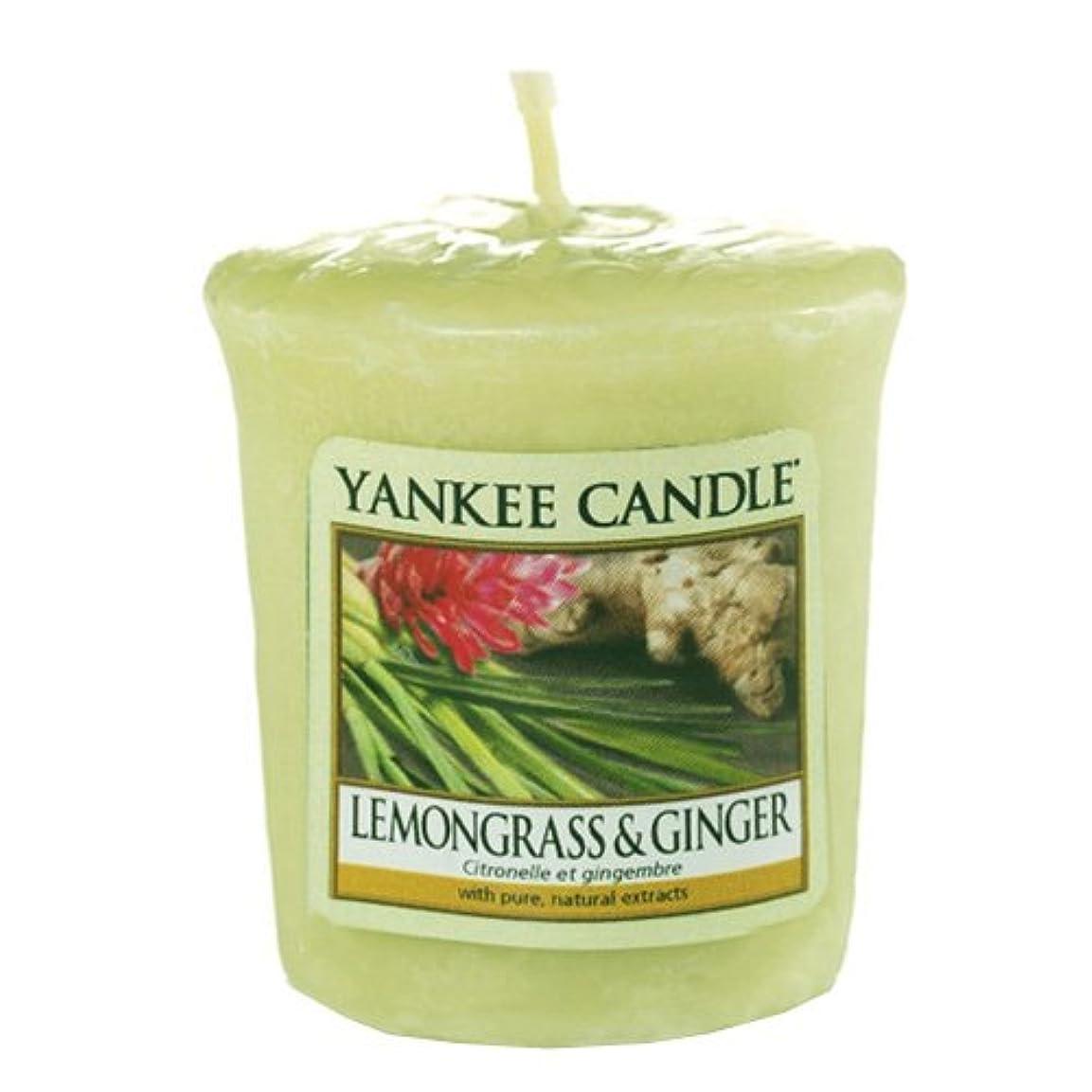 周波数中で遊び場Yankee Candle 5038580070309 灯明 レモングラス&ジンジャー YVLG ワンサイズ