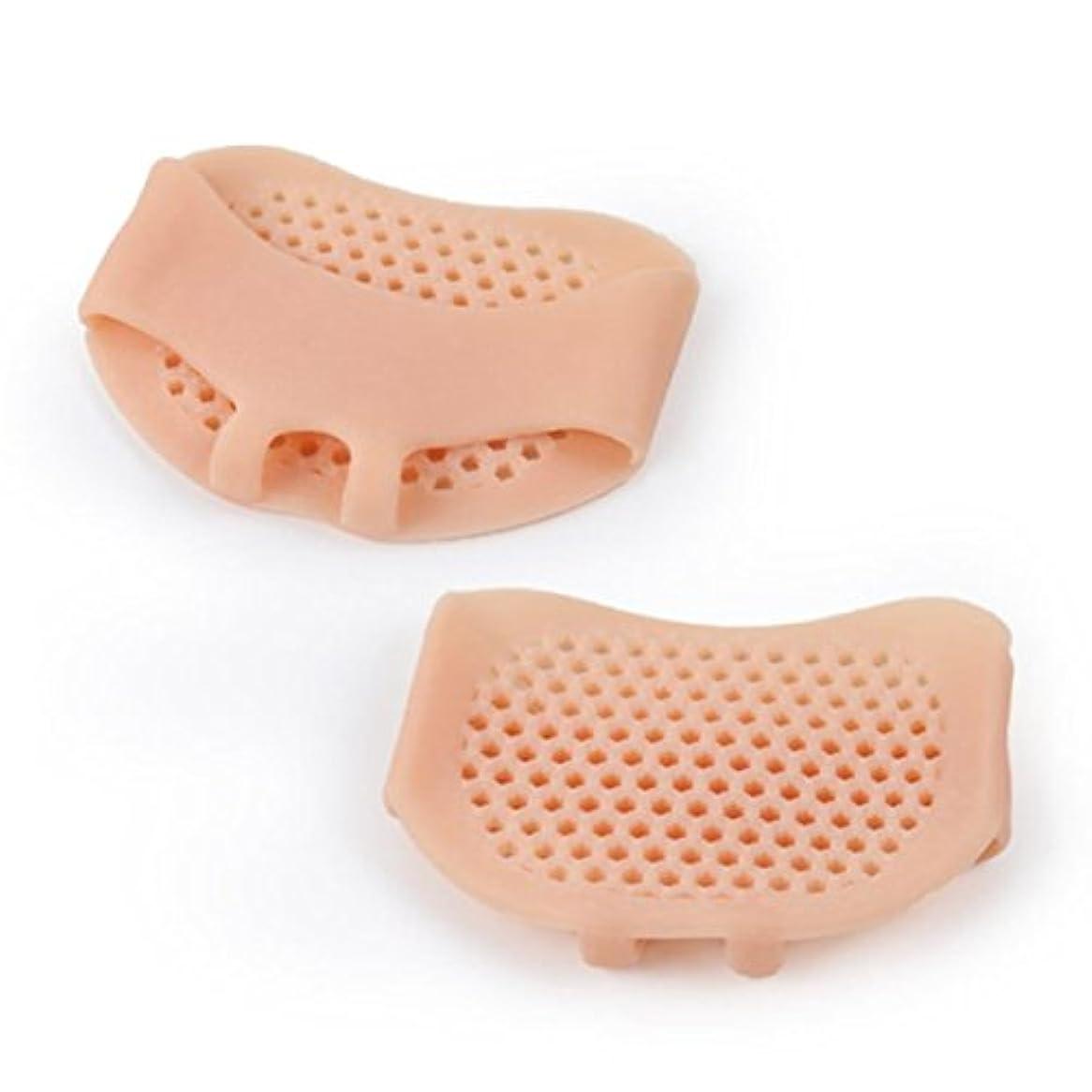 欠陥啓発する義務づける通気性のあるソフトシリコン女性インソールパッド滑り止め快適な女性フロントフットケアクッションハイヒール靴パッド-肌の色