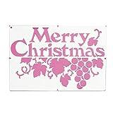 【クリスマス装飾デコレーション】カタガミ MCモジ(1枚)  / お楽しみグッズ(紙風船)付きセット