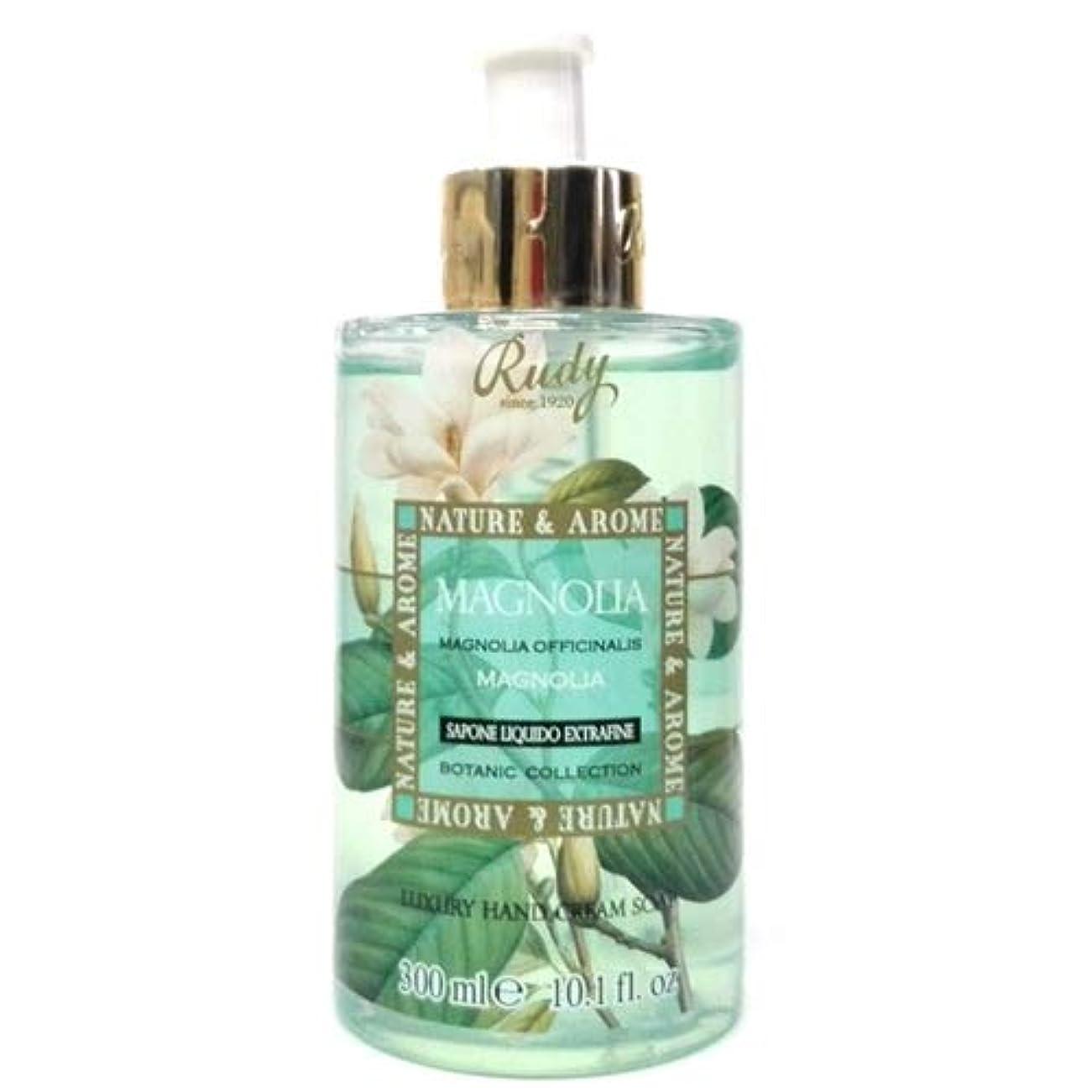 ノーブル収束する軽RUDY Nature&Arome SERIES ルディ ナチュール&アロマ Liquid Soap リキッドソープ マグノリア