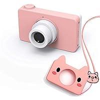 子供用デジタルカメラ 子供プレゼント 一眼レフ 子供用カメラ ミニカメラ トイカメラ 800万画素 2.0インチIPS画面 4倍ズーム 写真動画連続撮影 シリコンケース 日本語説明書付き (ピンク)