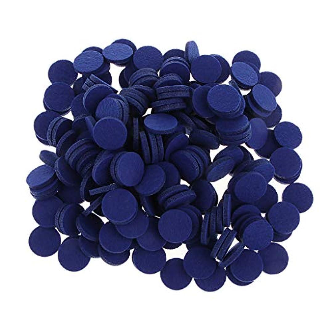 ピジン接続排気ディフューザーパッド アロマパッド パッド 精油 エッセンシャルオイル 香り 約200個入り 全11色 - ロイヤルブルー