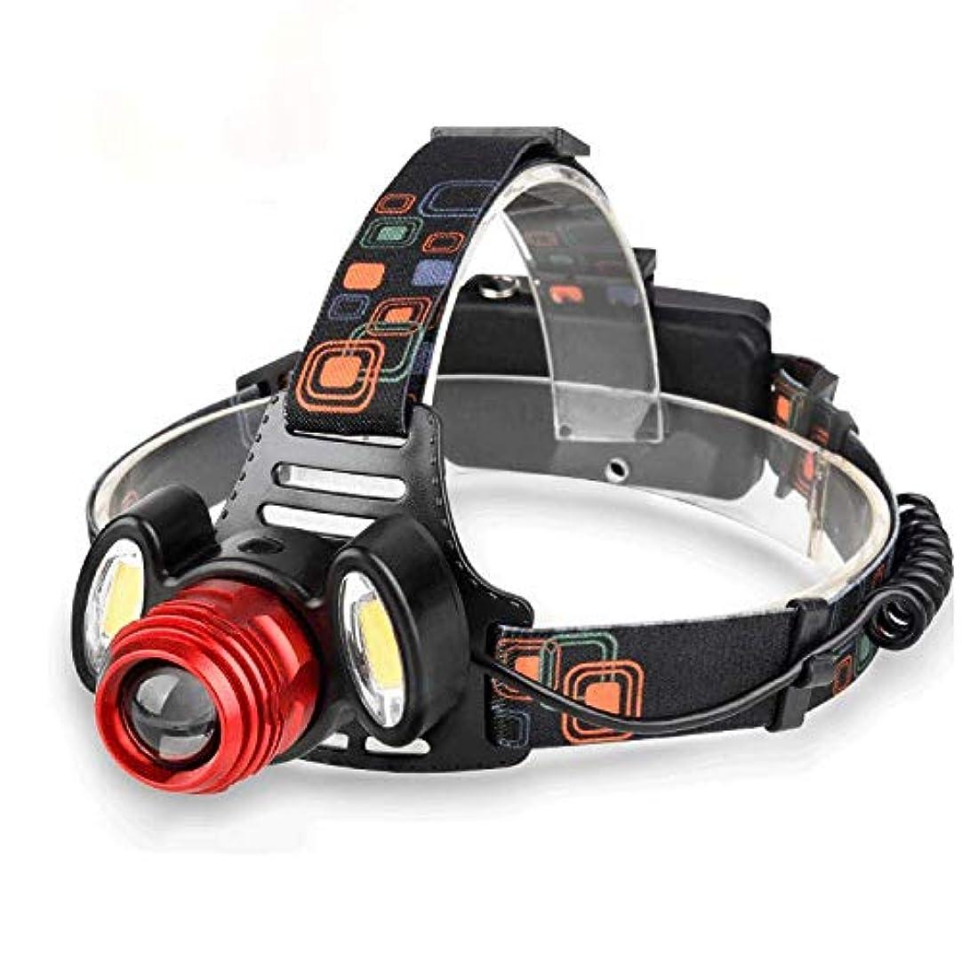 知覚干ばつ賢明なZAIHW USB充電式T6 + 2COB LEDヘッドトーチヘッドランプランニング、読書、ハイキング、ウォーキング、キャンプ、キッズ、超高輝度、防水、軽量&快適に最適