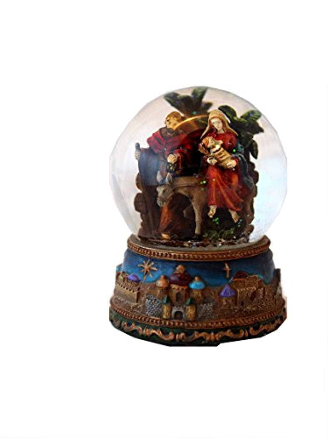Musicbox World Nativity Snow Globe Playing The Melody Silent Night, Multicoloured
