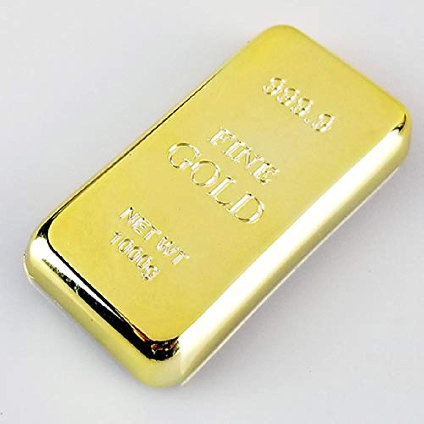 ドット小切手連帯Saikogoods ノベルティペーパーウェイトパーソナライズシャイニーゴールドメッキレンガバー文鎮クリエイティブデスクトップデコレーション ゴールド
