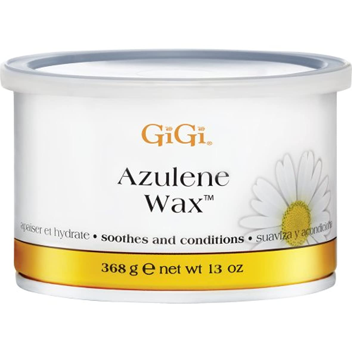 開始取り付け囲まれたGiGi Azulene Wax Soothes and Conditions All Skin Types 368g by Gigi
