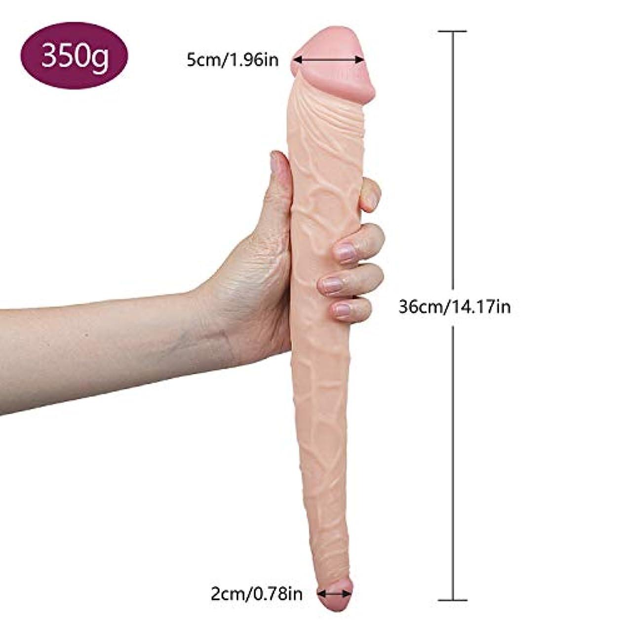 集計中世の召喚するペニス 14.17インチの完全なサイズの完全なボディマッサージャーの二重頭の側面のマッサージャーのおもちゃ マッサージャー