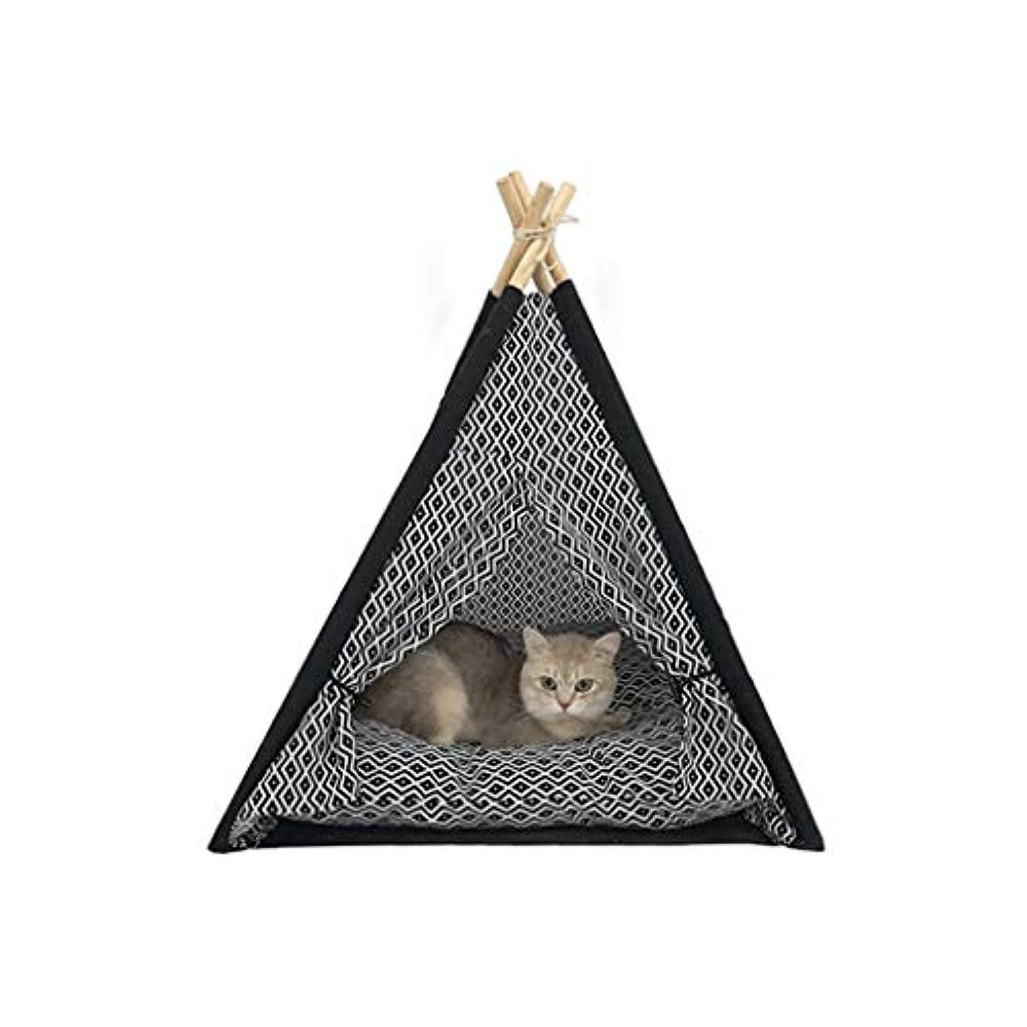 文字路地お手伝いさんZCWYP 犬のための携帯用ペットティーピーのテント、床のマットが付いている洗濯できるキャンバス材料