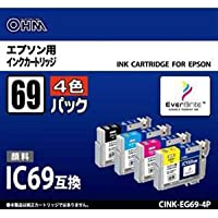 オーム電機 CINKEG694P [エプソン用インクカートリッジ(4色パック)]
