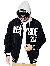 (ディーオーピー) DOP スタジャン メンズ フード付き ナイロンジャケット 大きいサイズ b系 ストリート系 ファッション