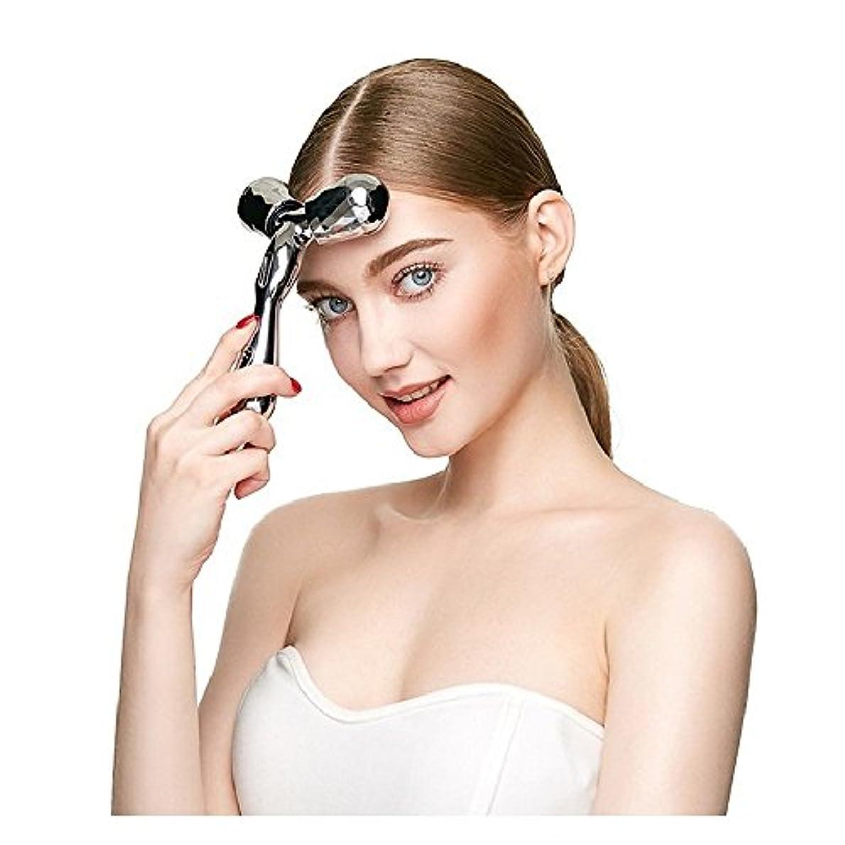 骨の折れる平均認識3 Dボディマッサージ器マイクロフェイス薄い顔マッサージローラー