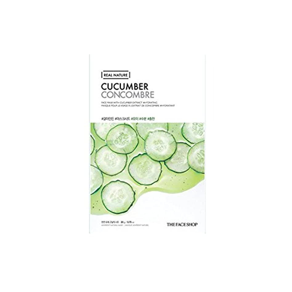 ステンレスの間でより平らな[The Face Shop] ザフェイスショップ リアルネイチャーマスクシート Real Nature Mask Sheet (Cucumber (キュウリ) 10個) [並行輸入品]