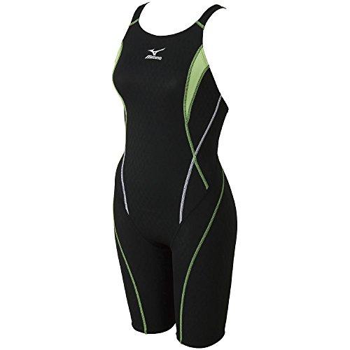 MIZUNO(ミズノ)レース用競泳水着レディースストリームアクティバハーフスーツFINA承認N2MG624093サイズ:Mブラック×ライム