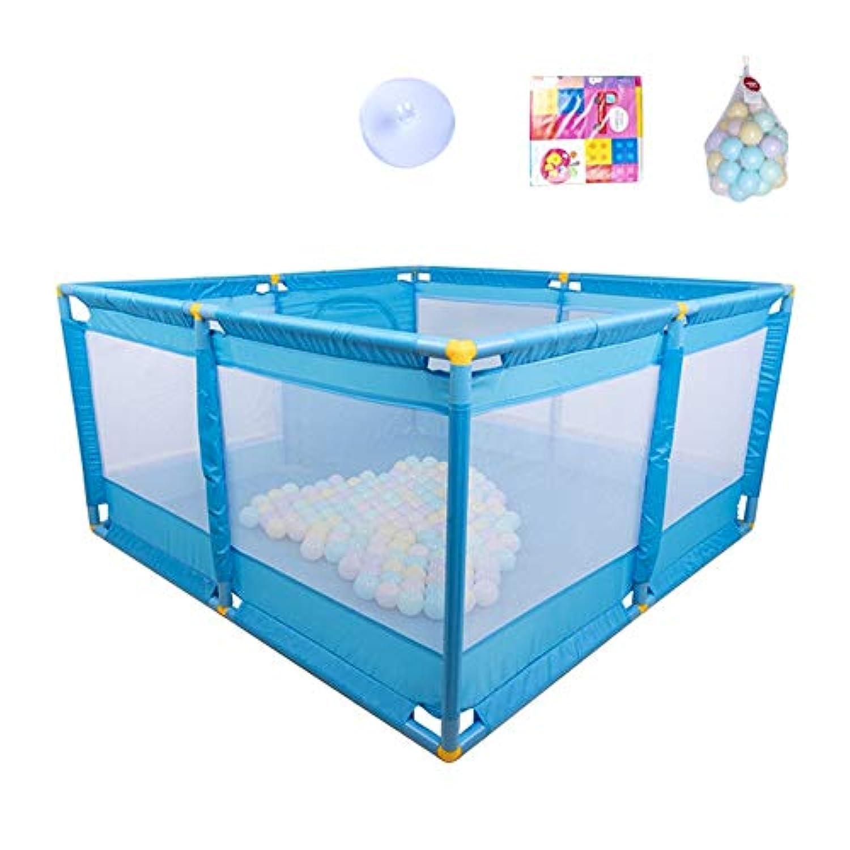 ベビーサークル 赤ちゃんプレイペンポータブルプレイヤード屋内児童ゲームフェンス幼児フェンスホームセキュリティフェンス200ボール (色 : Style2)