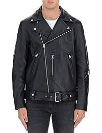Acne Studios メンズ B70008NATECLEANBLACK ブラック 革 ジャケット