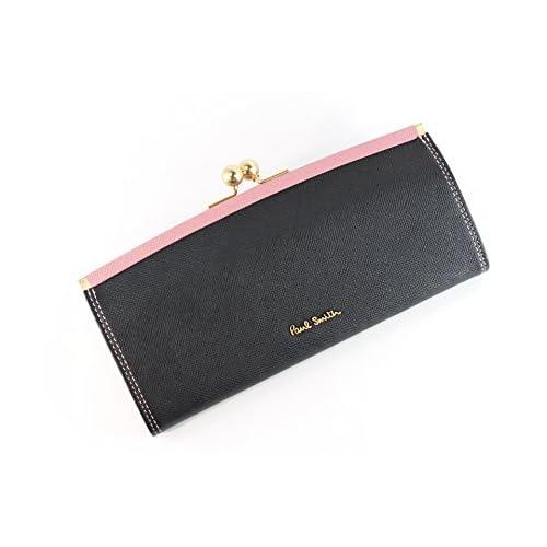 ポールスミス 財布 レディース がま口長財布 ブラック por021