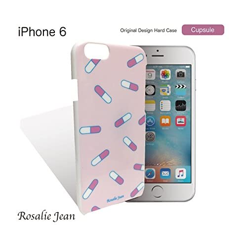 【Rosalie Jean】 iPhone6ケース 4.7 Apple 耐衝撃 ゆめかわいい 病院お薬カプセルケース ハードケース ホワイト(アイフォン6 4.7 ドコモ apple アップル) スマホ カバー スマホケース 携帯カバー 充電器 対応 ケース