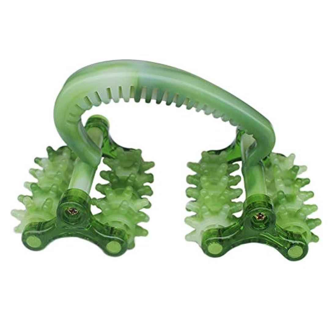 笑い発明仕出しますROSENICE マッサージローラーマッサージボールボディリラクゼーションマッサージ器セルフマッサージローラー(グリーン)