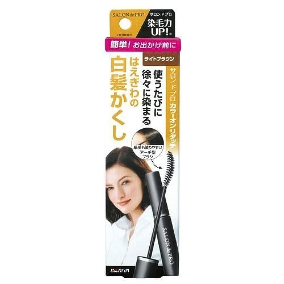 マーキー援助するマウントバンクサロンドプロ カラーオンリタッチ 白髪かくしEX ライトブラウン 15ml