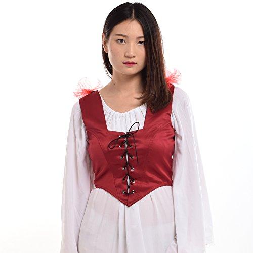 BLESSUME レディ―ス 女性用 コルセット ユニ―クな ベルト 洋服  (M, Red)