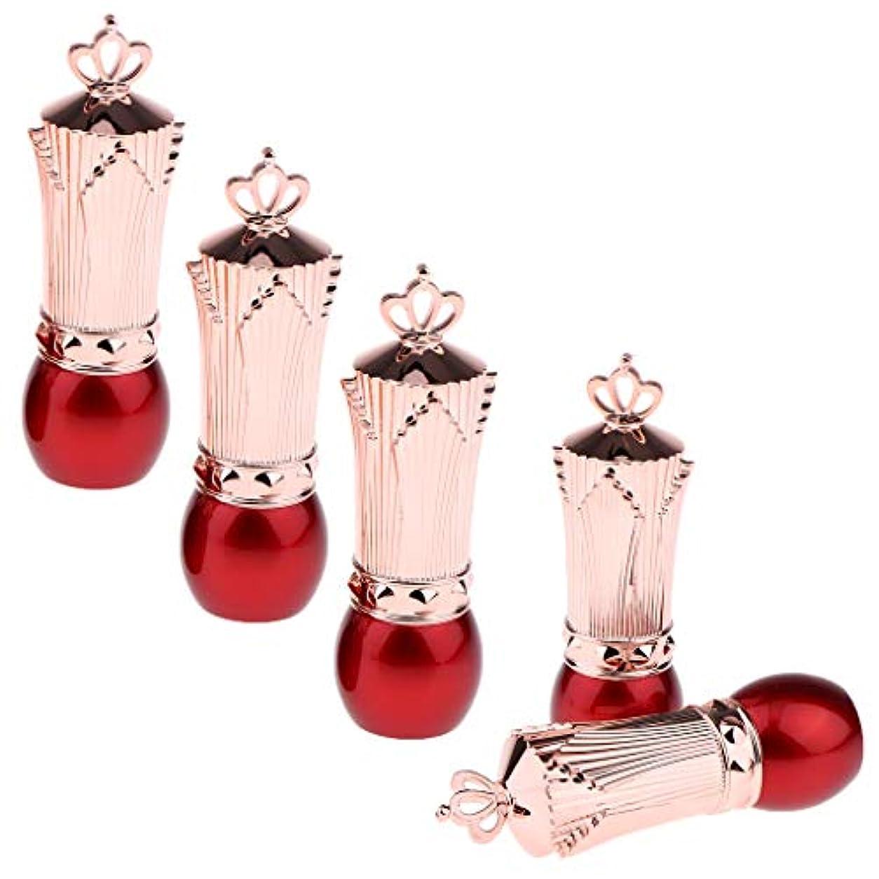 厳ミニチュアイサカCUTICATE 口紅チューブ 空 詰替え 口紅容器 リップクリーム管 リップクリームチューブ 5本 全2色 - 赤
