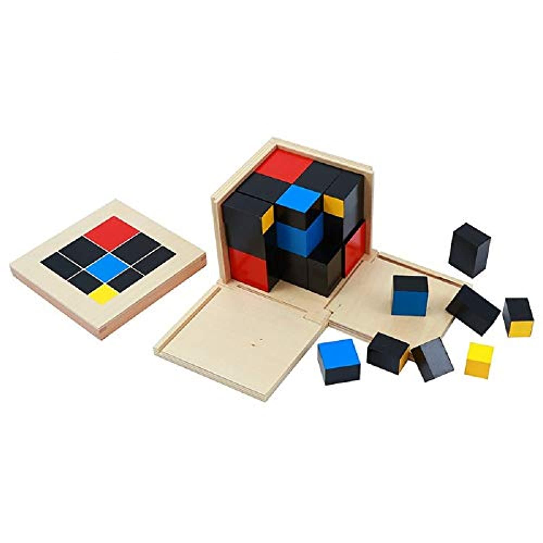 Zhenyu ベビートイ 標準トリノミアルキューブマット 早期子供用 教育 就学前 トレーニング 学習 おもちゃ ギフトに最適