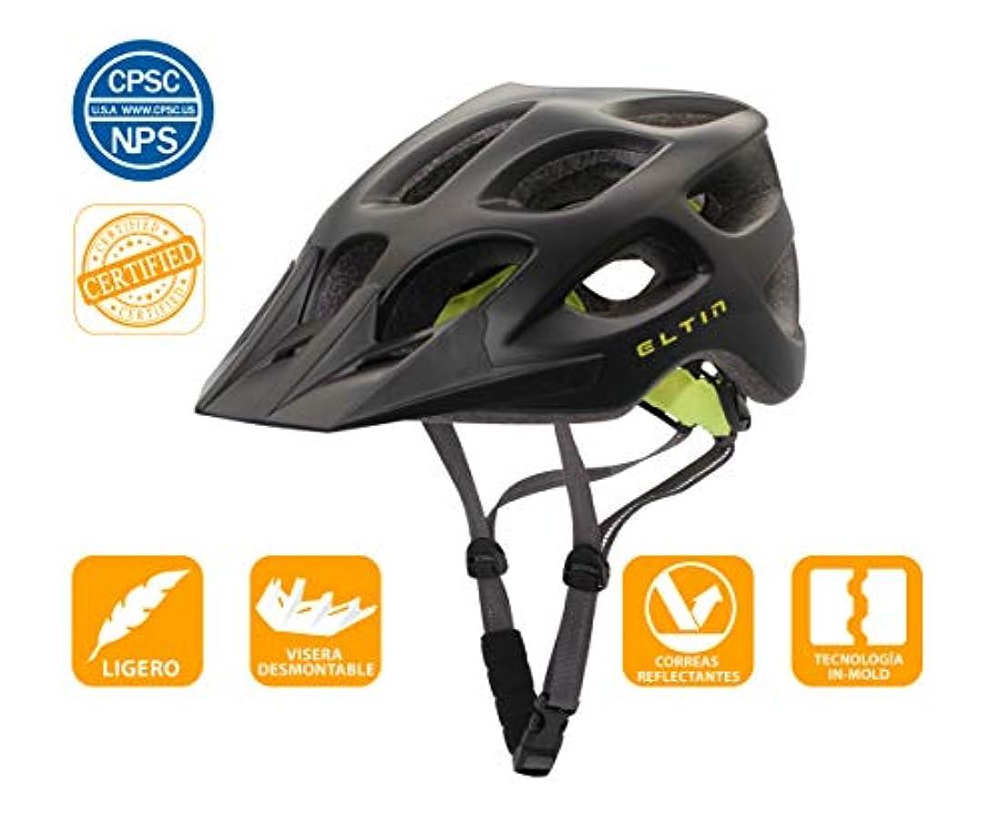 先悲劇セクタ安全保護のために特化されたEltin調整可能な軽量バイクヘルメット(マットブラック)