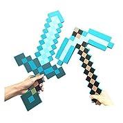 5SKYBLUE)ダイヤモンドソード&斧 マインクラフト マイクラ 武器 セット