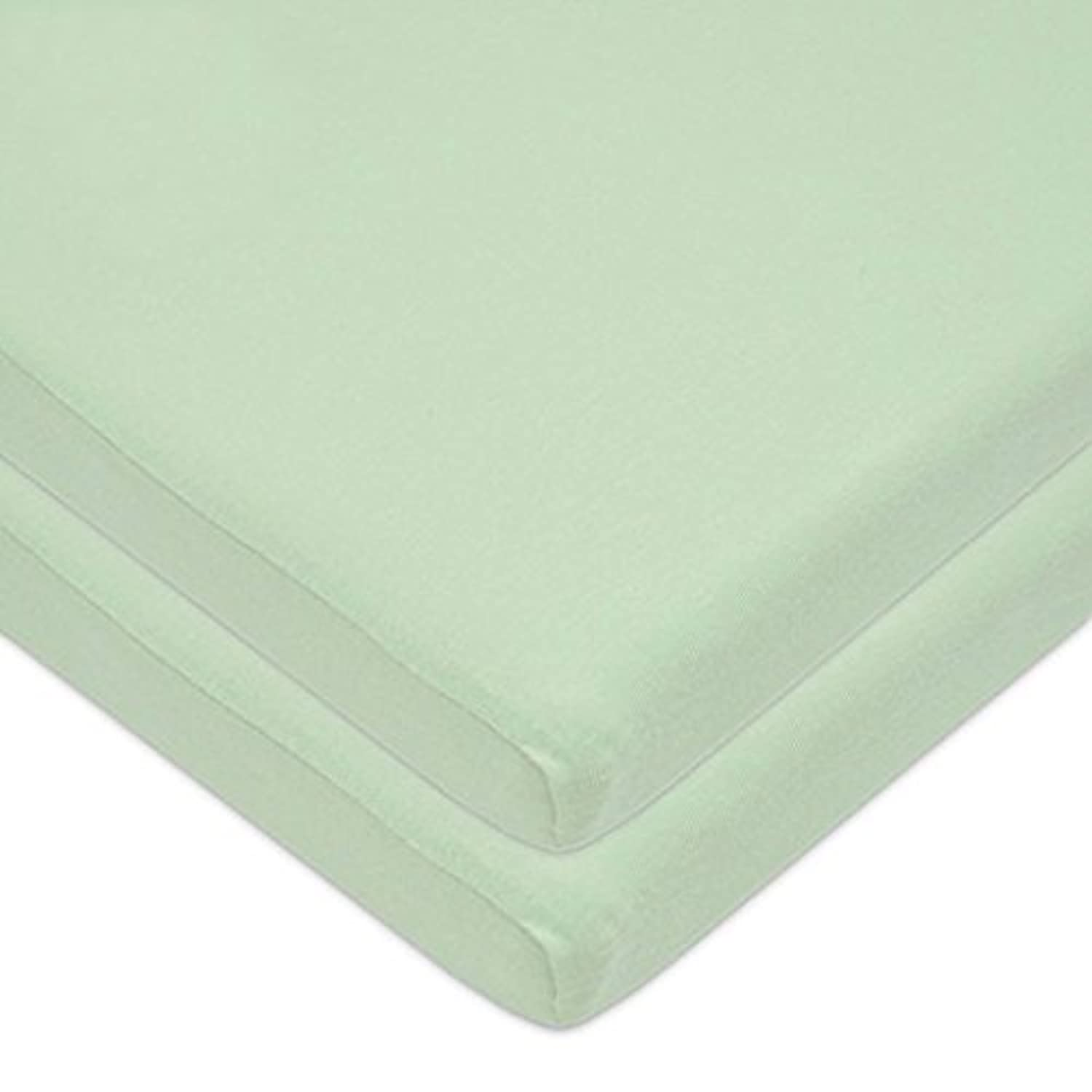American Baby Company 2 Piece 100% Cotton Value Jersey Knit Fitted Pack and Play Playard Sheet, Celery, 27 x 39 x 4 by American Baby Company