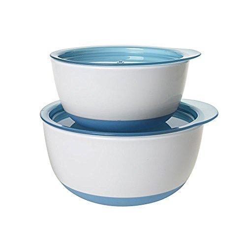OXO Tot ボウルセット アクア フタ付き ベビー食器 離乳食 すくいやすい 深皿 保存容器 FDOX6103800