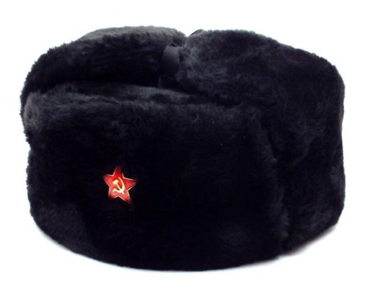 孤独な運動道路本物ロシア軍 Ushanka帽子レッドStar