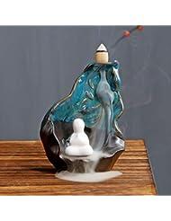 PHILOGOD 陶器逆流香炉 リトルモンククリエイティブスタイリング 香立て お香 ホルダー ホームデコレーション