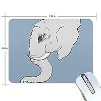 Jiemeil マウスパッド 高級感 おしゃれ 滑り止め PC かっこいい かわいい プレゼント ラップトップ MacBook pro/DELL/HP/SAMSUNG などに 象